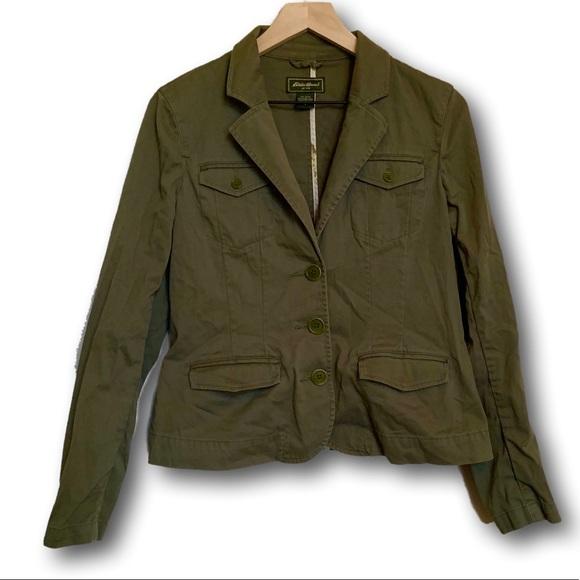 Eddie Bauer Jackets & Blazers - Eddie Bauer Women's Army Green Fashion Blazer